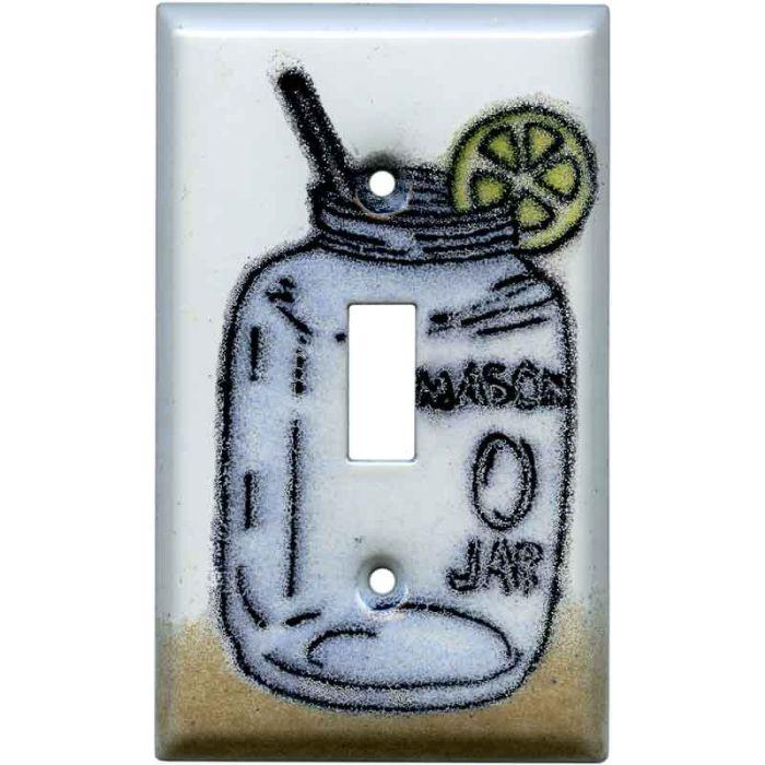 Mason Jar Single 1 Toggle Light Switch Plates