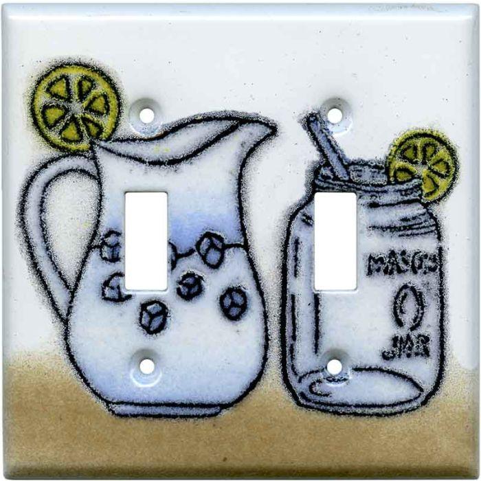 Mason Jar Double 2 Toggle Switch Plate Covers