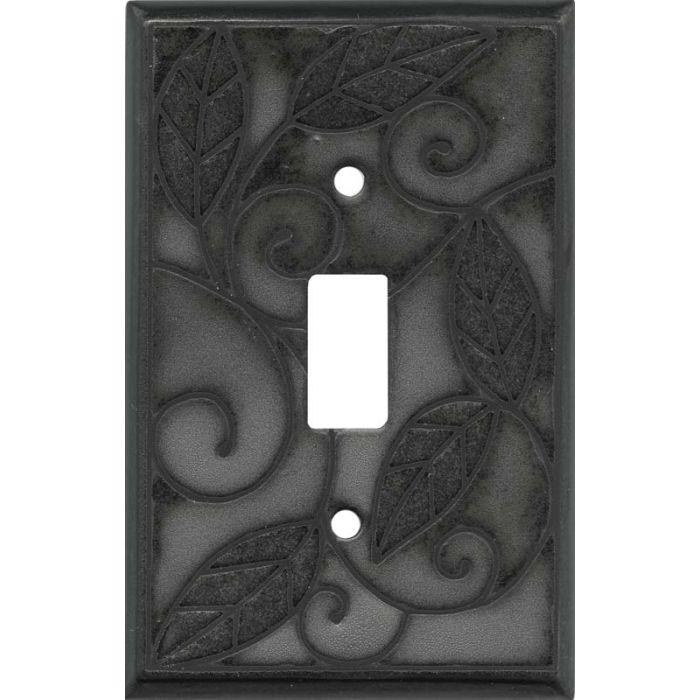 Metallic Leaves Ceramic Single 1 Toggle Light Switch Plates