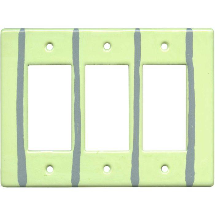 Mint Stripe Triple 3 Rocker GFCI Decora Light Switch Covers