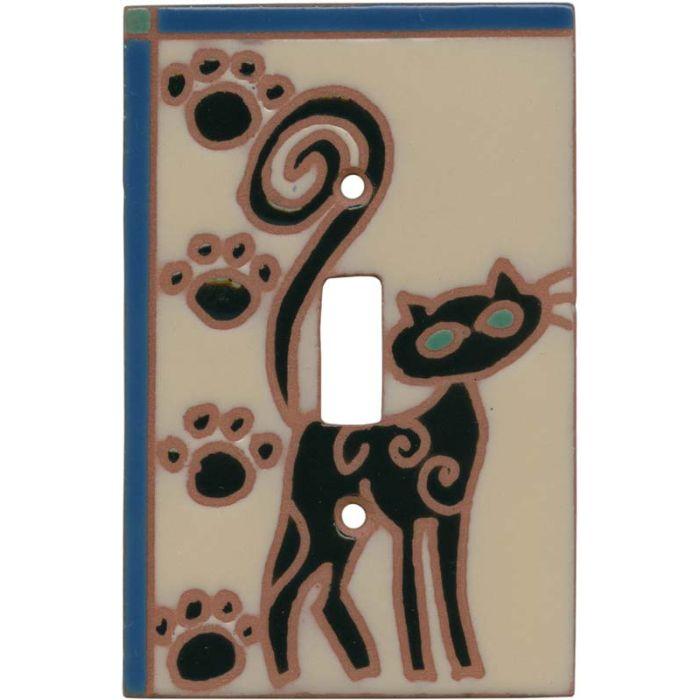 Miss Kitty Single 1 Toggle Light Switch Plates
