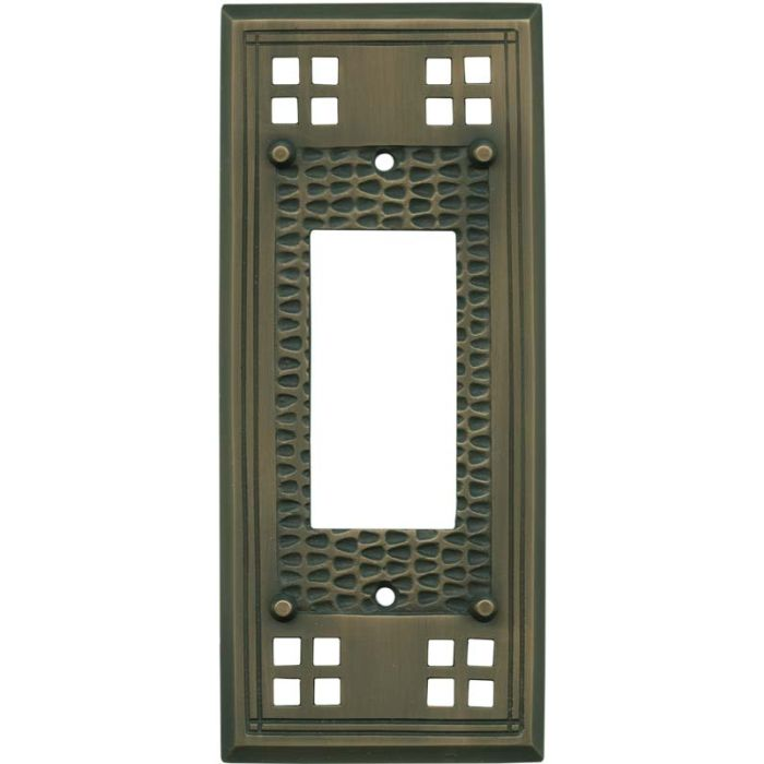 Mission Classic Antique Brass Single 1 Gang GFCI Rocker Decora Switch Plate Cover