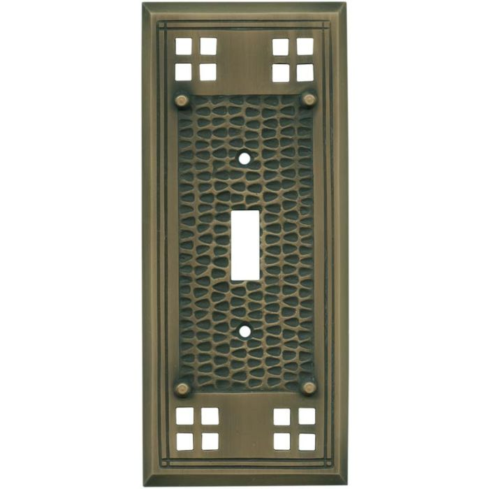 Mission Classic Antique Brass - Single Toggle Switch Plates