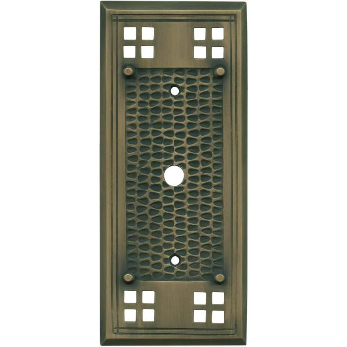 Mission Classic Antique Brass - Cable Wall Plates