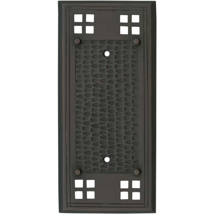 Mission Classic Oil Rubbed Bronze - Blank Wall Plates