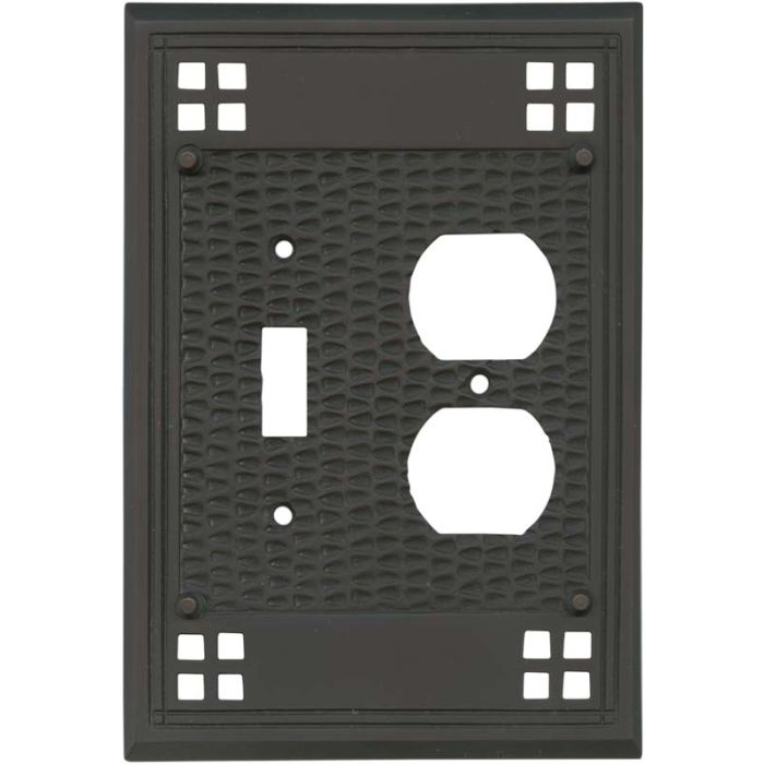 Mission Classic Oil Rubbed Bronze - Combination 1 Toggle/Outlet Cover Plates