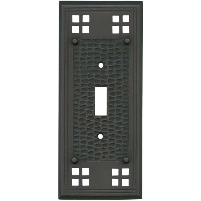 Mission Classic Oil Rubbed Bronze - 1 Toggle Light Switch Plates