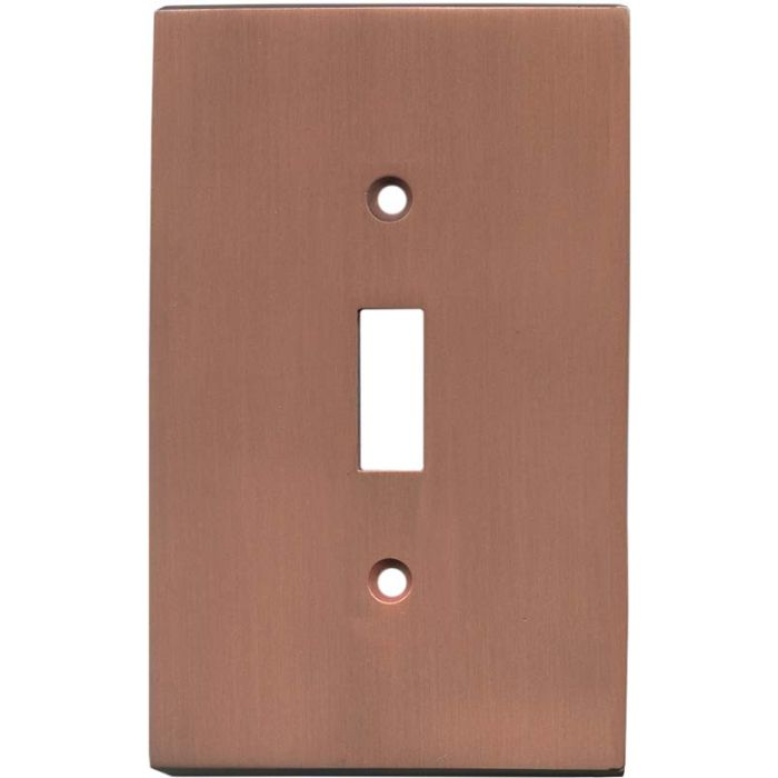 Straight Antique Copper - 1 Toggle Light Switch Plates