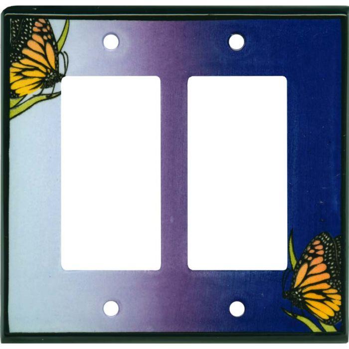 Monarch Ceramic 2 Gang Double GFCI Rocker Decorator Wallplates