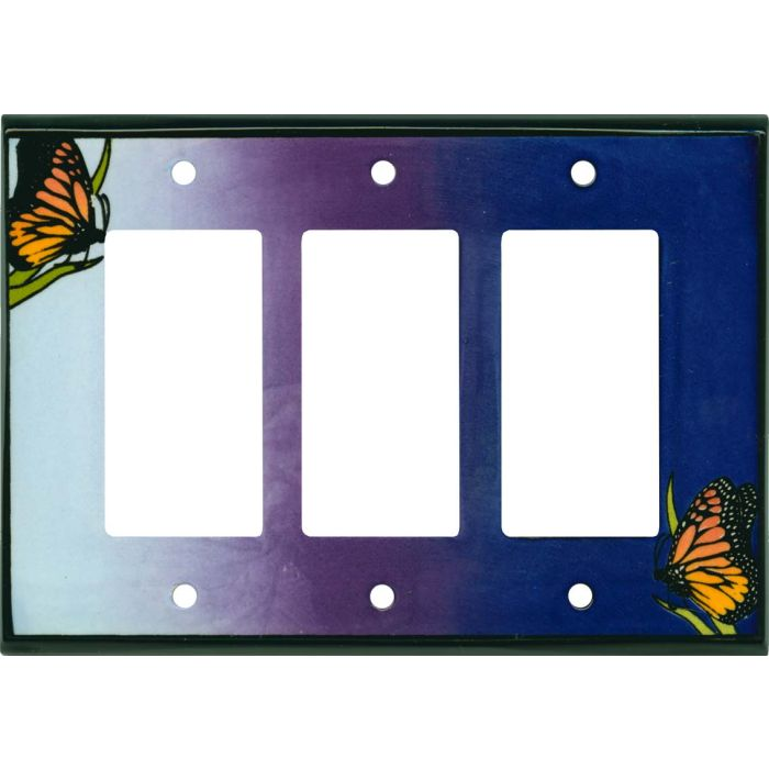 Monarch Ceramic Triple 3 Rocker GFCI Decora Light Switch Covers