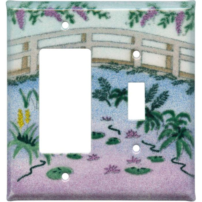 Monet's Garden 1-Gang GFCI Decorator Rocker Switch Plate Cover