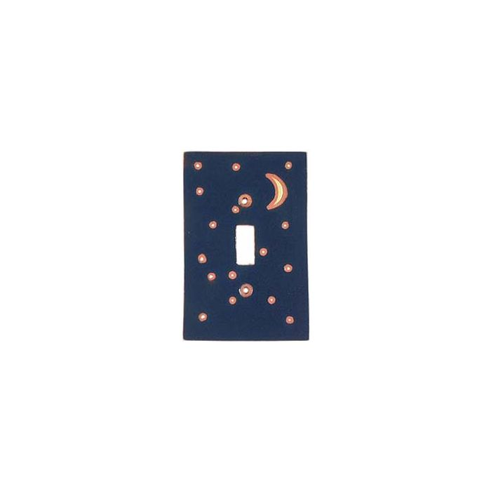 Moon Silver Single 1 Toggle Light Switch Plates