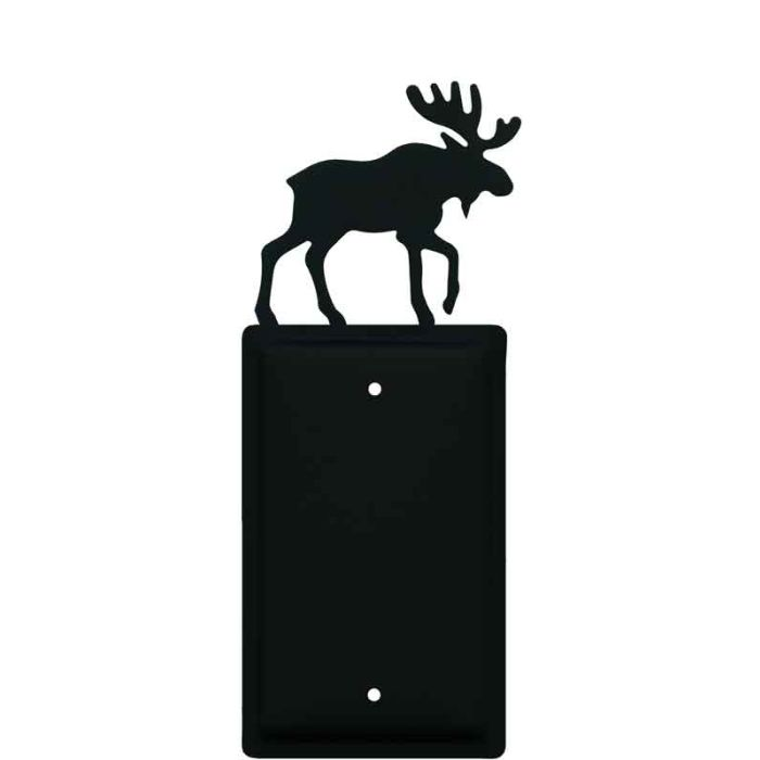 Moose Black Blank Wall Plate Cover
