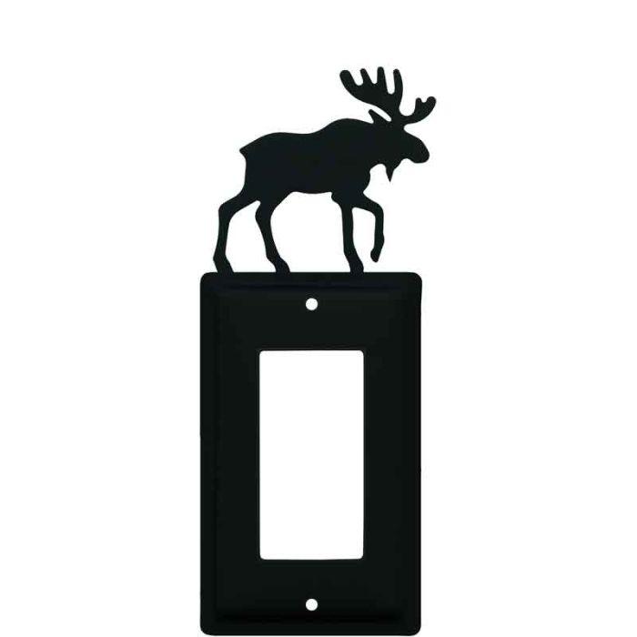 Moose Black Single 1 Gang GFCI Rocker Decora Switch Plate Cover