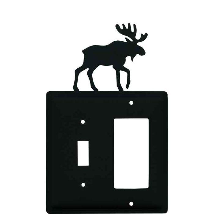 Moose Black Combination 1 Toggle / Rocker GFCI Switch Covers