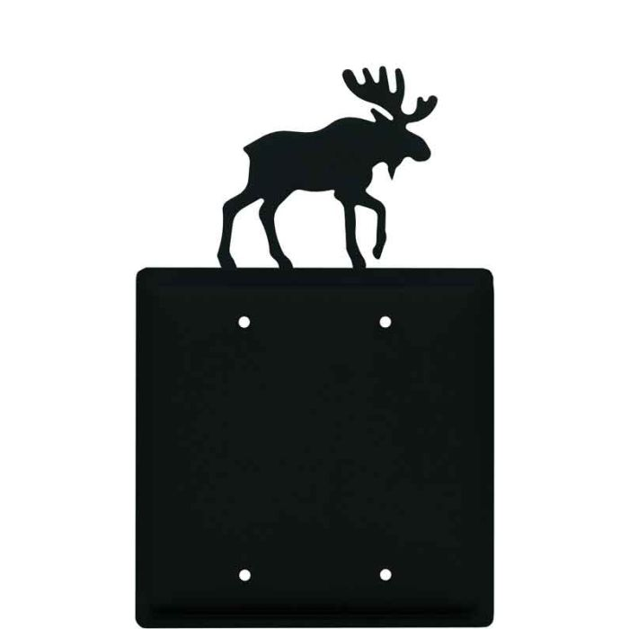 Moose Black Double Blank Wallplate Covers