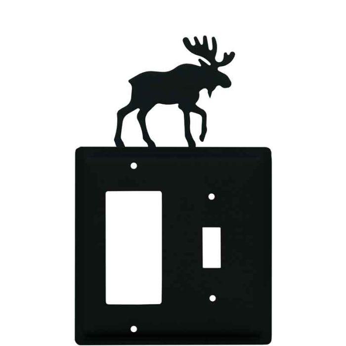 Moose Black 1-Gang GFCI Decorator Rocker Switch Plate Cover