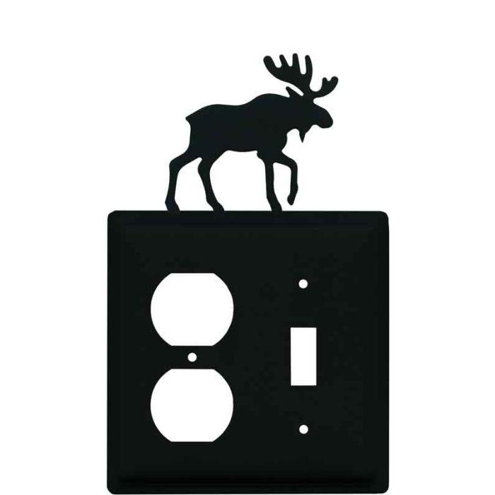 Moose Black 1-Duplex / 1-Toggle - Combination Wall Plates