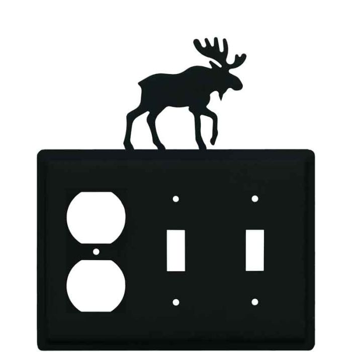 Moose Black 1 - Gang Duplex Outlet Cover Wall Plate