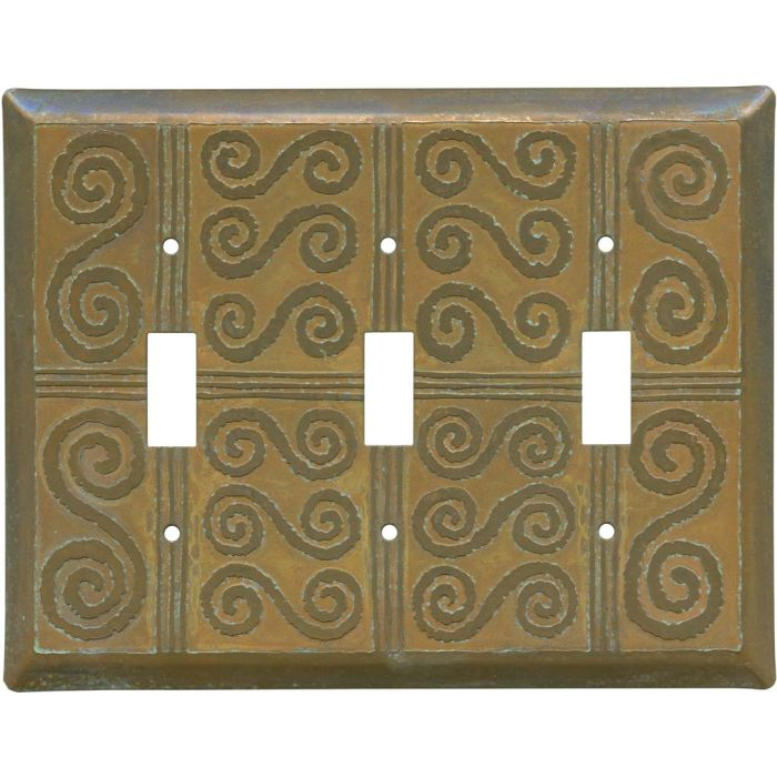 Morocco Tarnished Copper 3 - Toggle Switch Plates