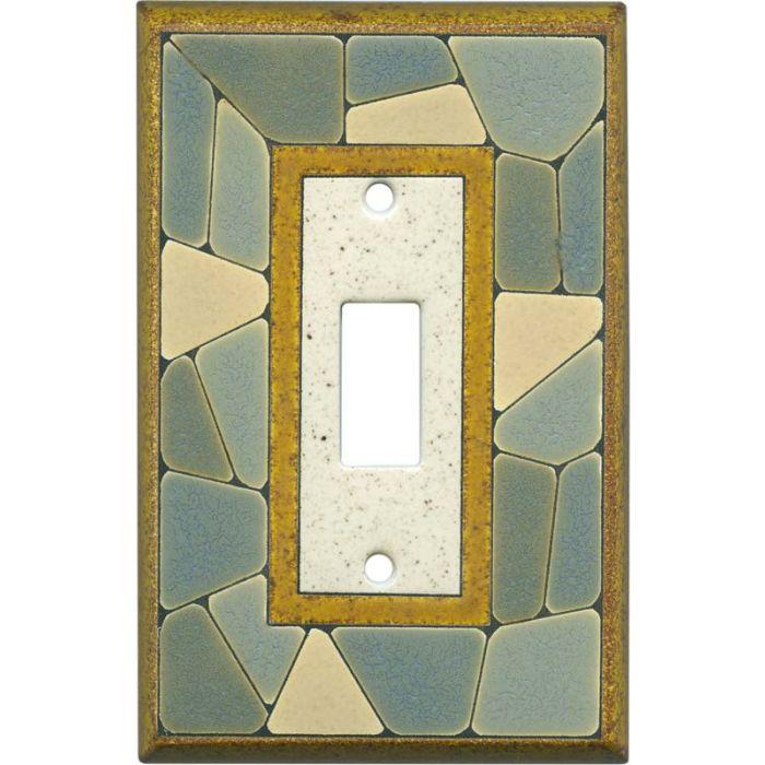 Mosaic Border Ceramic Single 1 Toggle Light Switch Plates