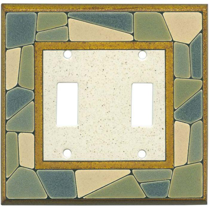 Mosaic Border Ceramic2 Toggle Switch Plates