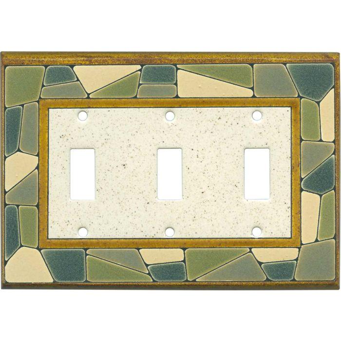 Mosaic Border Ceramic3 - Toggle Switch Plates