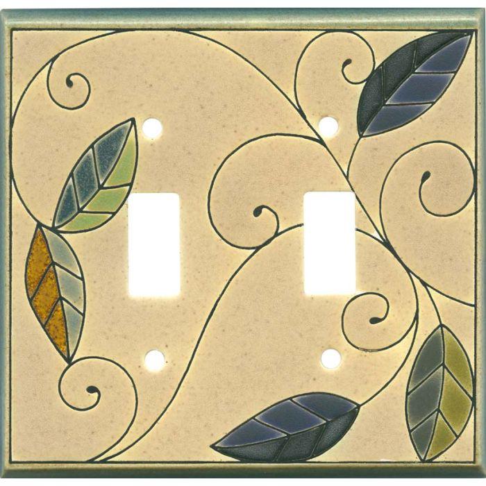Mosaic Leaves Ceramic2 Toggle Switch Plates