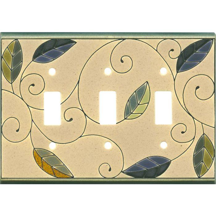Mosaic Leaves Ceramic3 - Toggle Switch Plates
