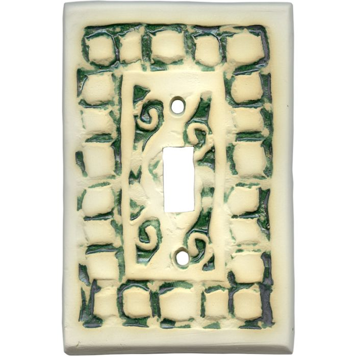 Mosaic Natural 1 Toggle Light Switch Cover