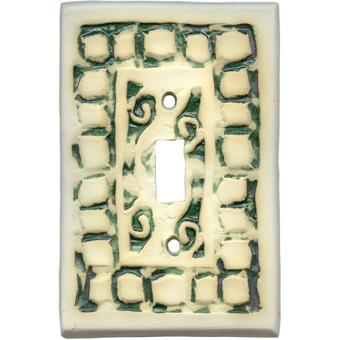 Mosaic Natural Single 1 Toggle Light Switch Plates