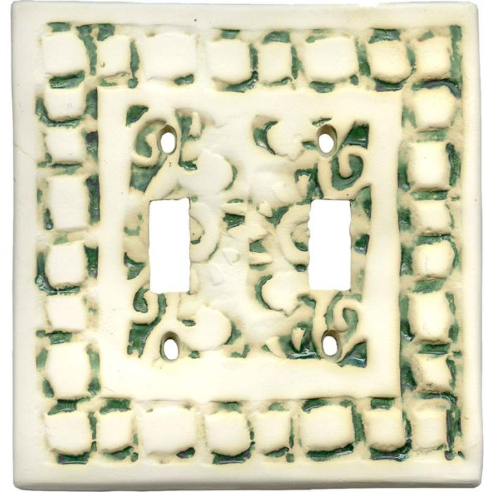 Mosaic Natural 2 Toggle Switch Plates