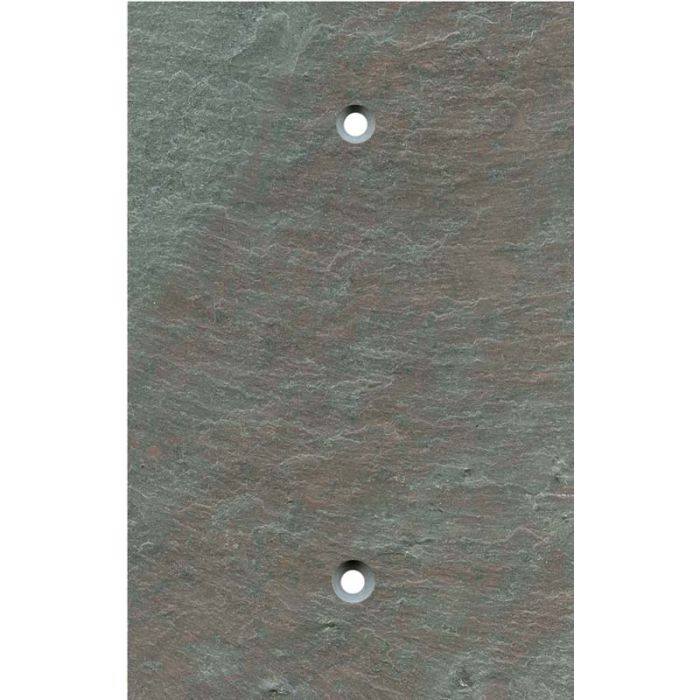Vermont Mottled Slate 1 Gang Blank Wall Plates