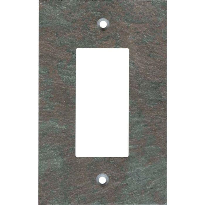 Vermont Mottled Slate Single 1 Gang GFCI Rocker Decora Switch Plate Cover