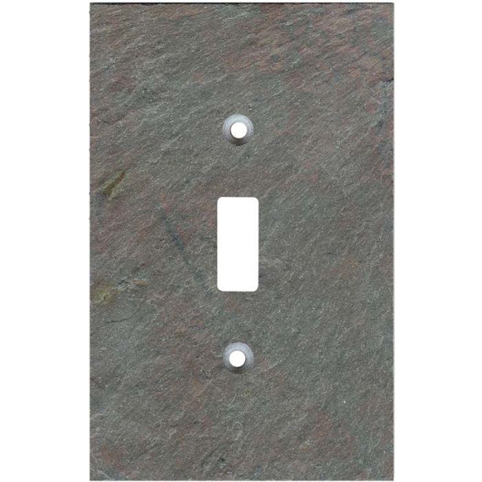 Vermont Mottled Slate Single 1 Toggle Light Switch Plates
