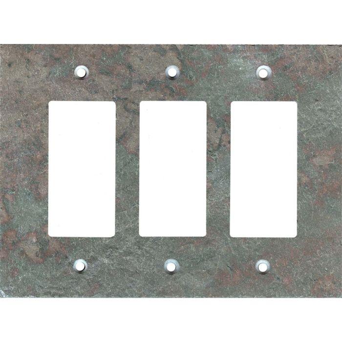 Vermont Mottled Slate Triple 3 Rocker GFCI Decora Light Switch Covers