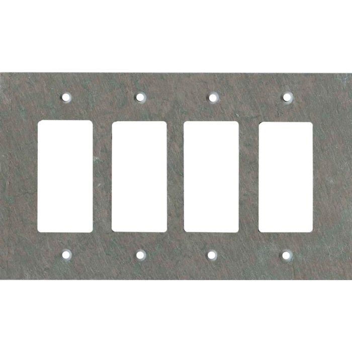 Vermont Mottled Slate 4 Rocker GFCI Decorator Switch Plates