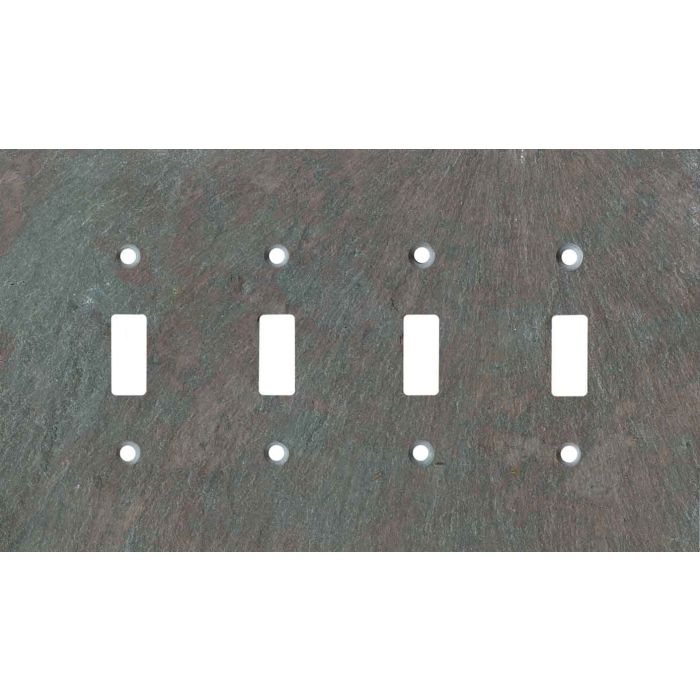 Vermont Mottled Slate Quad 4 Toggle Light Switch Covers