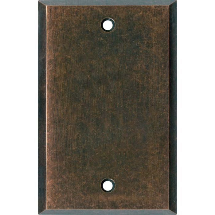 Mottled Antique Copper - Blank Wall Plates