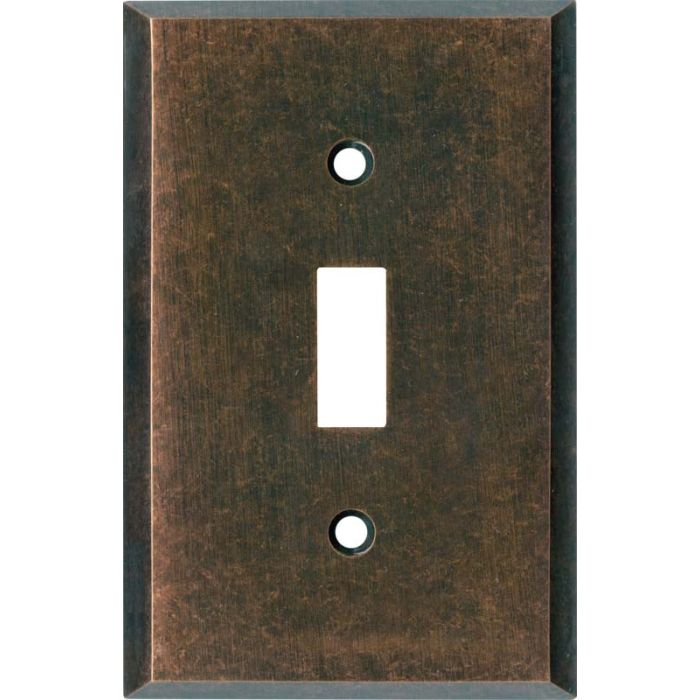 Mottled Antique Copper - 1 Toggle Light Switch Plates