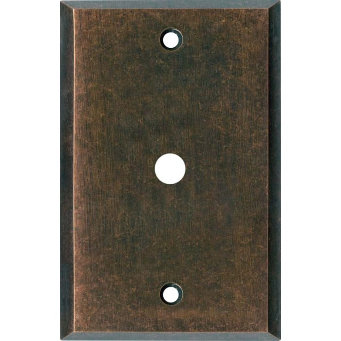 Mottled Antique Copper - Cable Wall Plates