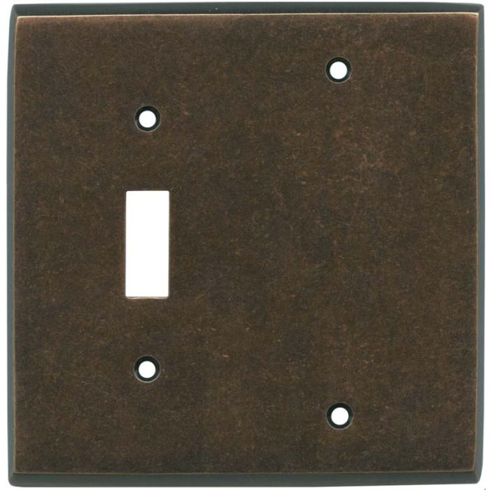 Mottled Antique Copper - 1 Toggle/Blank Switch Covers