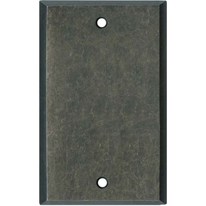 Mottled Antique Pewter Blank Wall Plate Cover