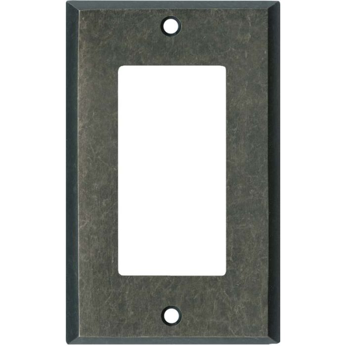 Mottled Antique Pewter Single 1 Gang GFCI Rocker Decora Switch Plate Cover