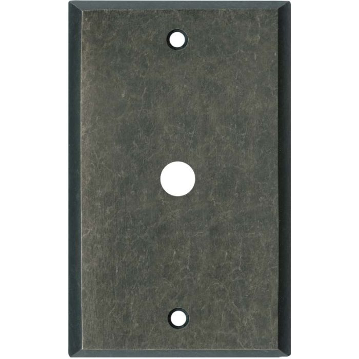 Mottled Antique Pewter Coax Cable TV Wall Plates