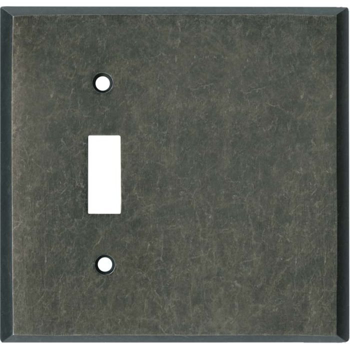 Mottled Antique Pewter Combination 1 Toggle / Blank Switch Plate Covers