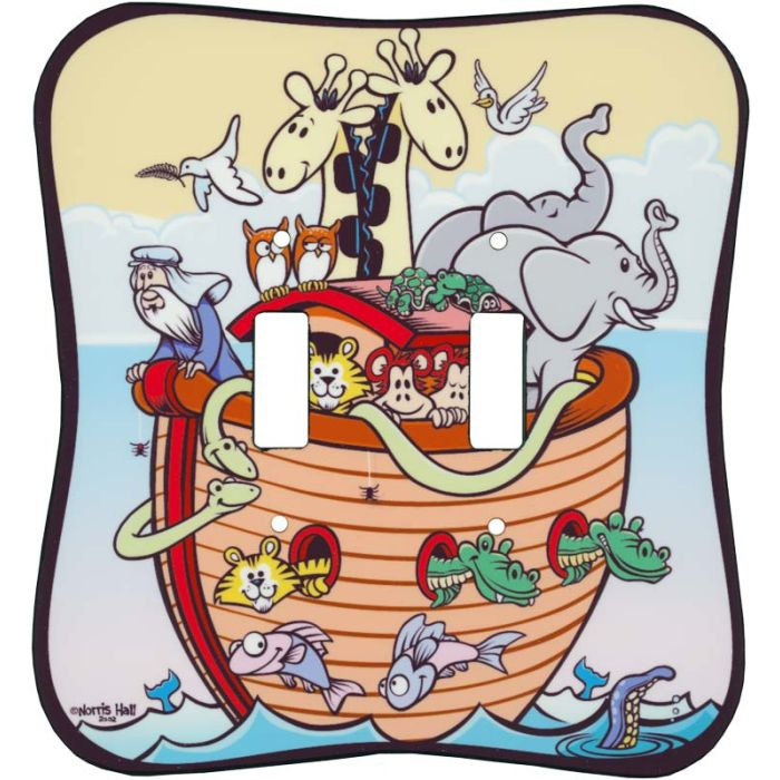 Noah & His Ark Double 2 Toggle Switch Plate Covers
