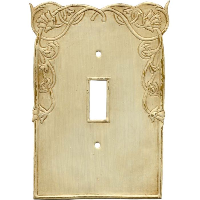 Nouveau Single 1 Toggle Light Switch Plates