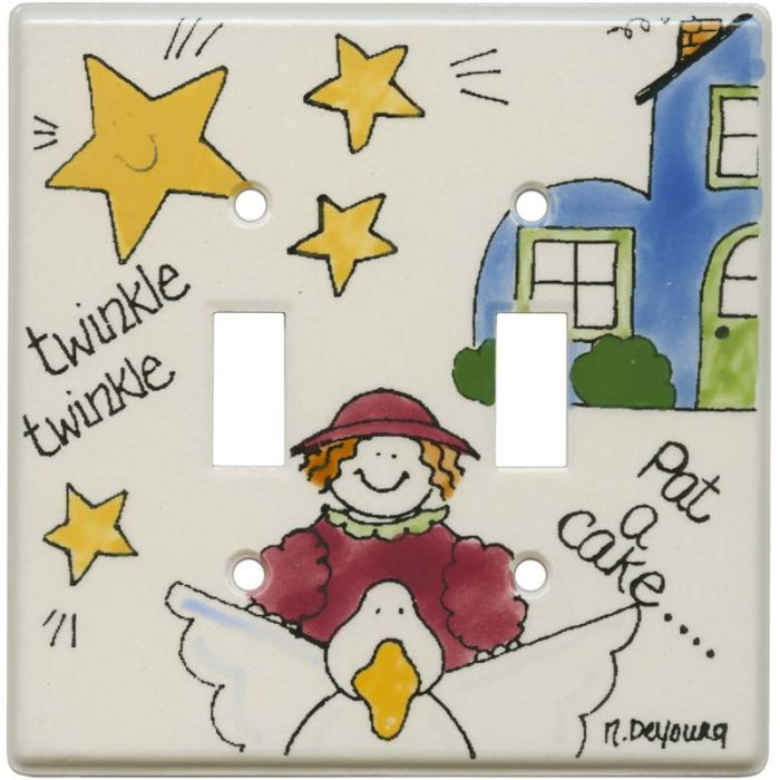 Nursery Rhyme Wall Plates Outlet Covers