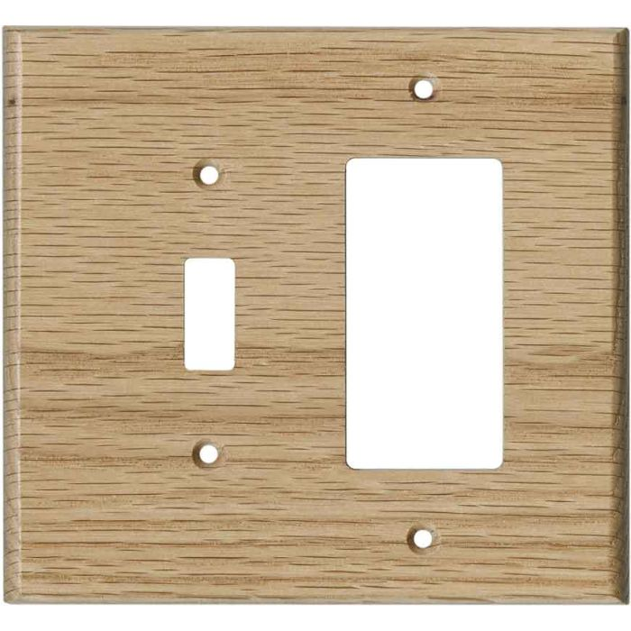 Oak Red Unfinished - Combination 1 Toggle/Rocker Switch Covers